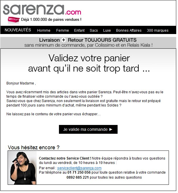 message relance site rencontre