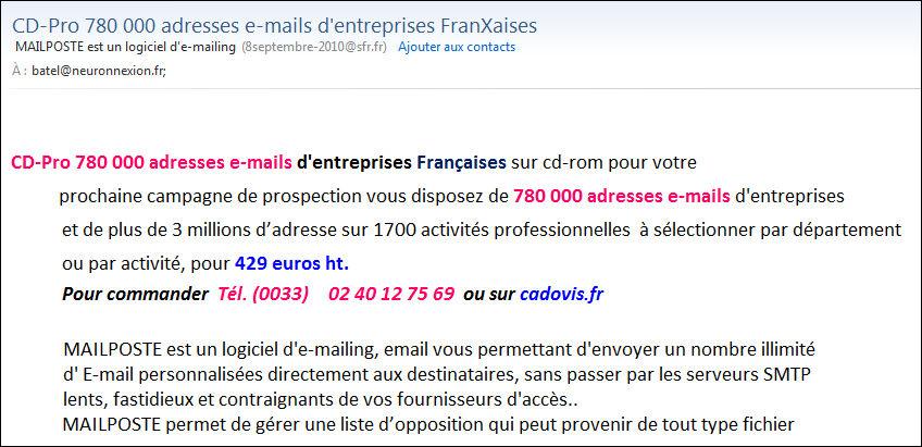 Les Critères De Choix Et De Sélection Des Fichiers Emails