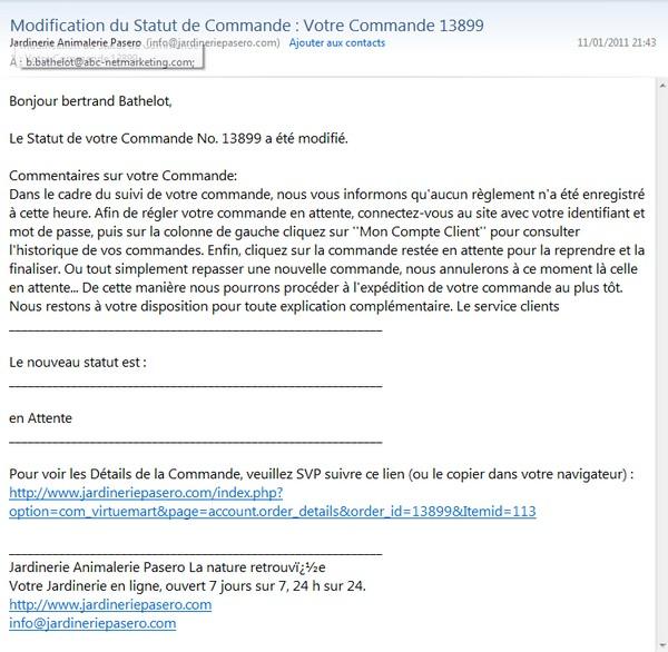 Des exemples d'emails de relance sur abandons de panier.